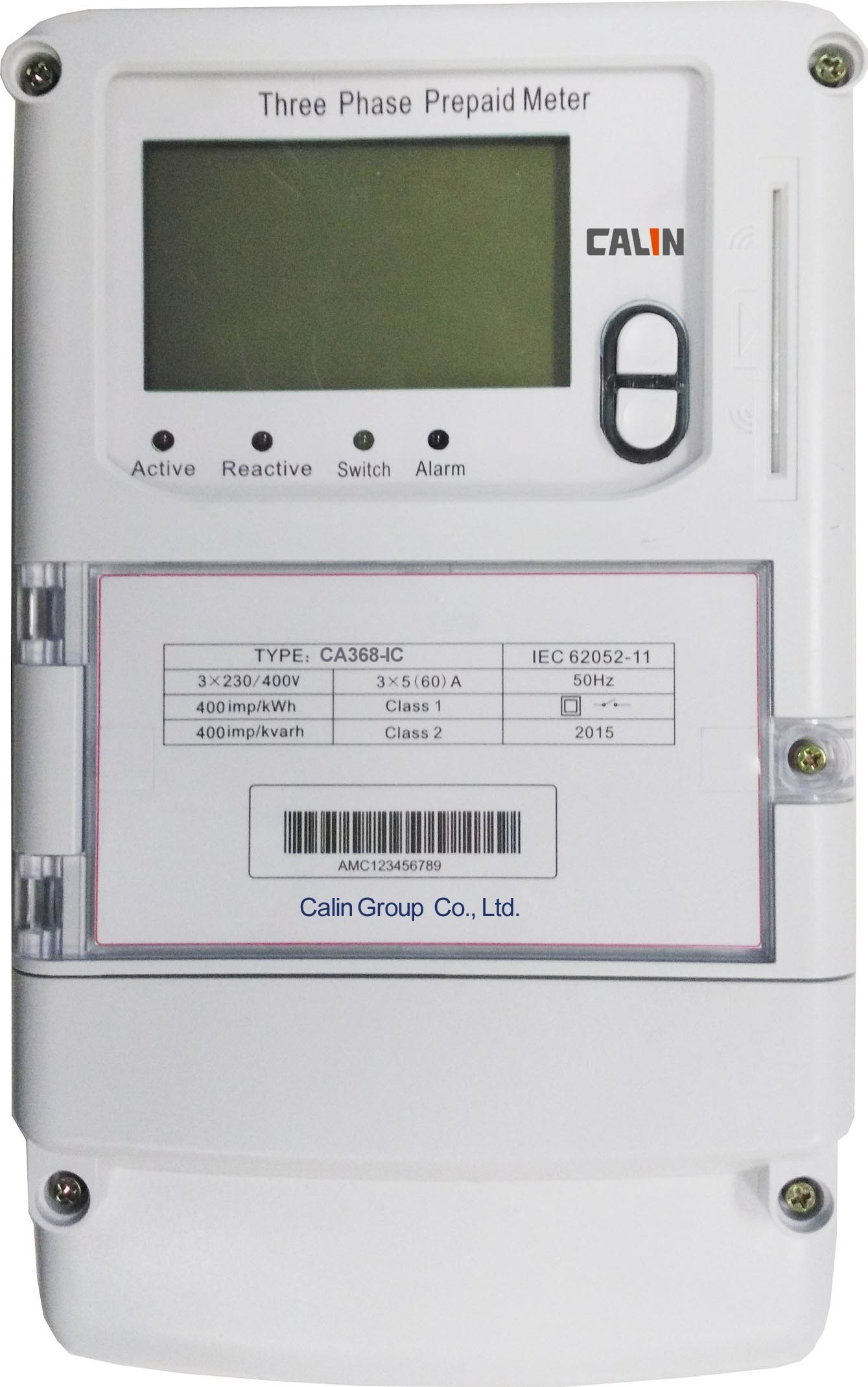 Three Phase Sts IC Card Prepaid Energy Meter