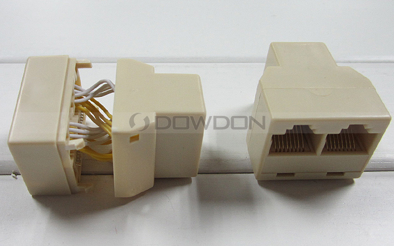 Manufacturer 8p8c RJ45 Network Splitter Network Cable Connector