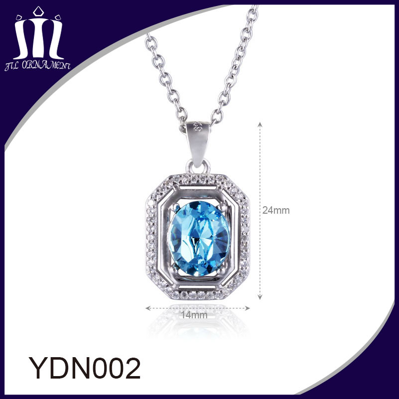 Big Blue Crystal Pendant