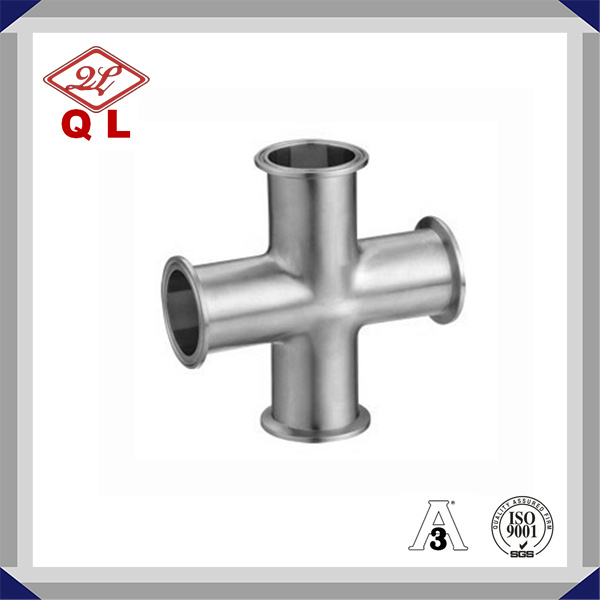 3A 304/316L Sanitary Stainless Steel Clamped Cross Cross Four Way
