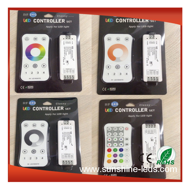 LED Controller (RGB/WiFi/DMX/RF/IR/SD Card/Touch)