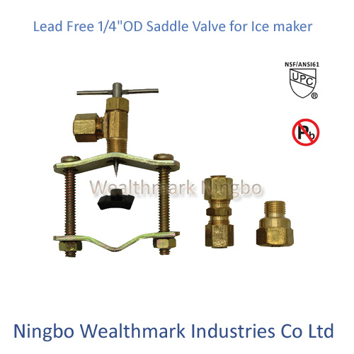 "Lead Free 1/4""Od Saddle Valve for Ice Maker"