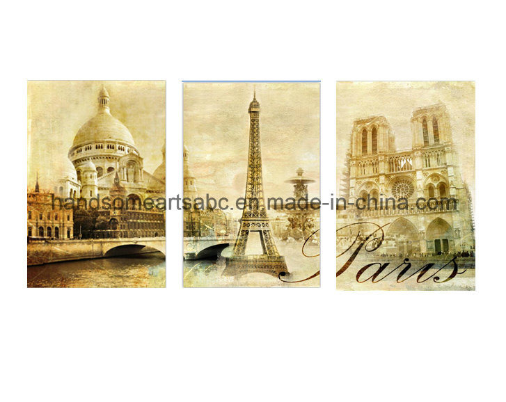Landscape of Paris Canvas Painting for Home Decorations Wall Painting