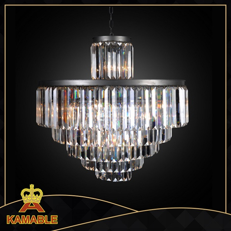 Restoration Chandelier Hanging Hotel Crystal Lamp (KAD6000-22IO)