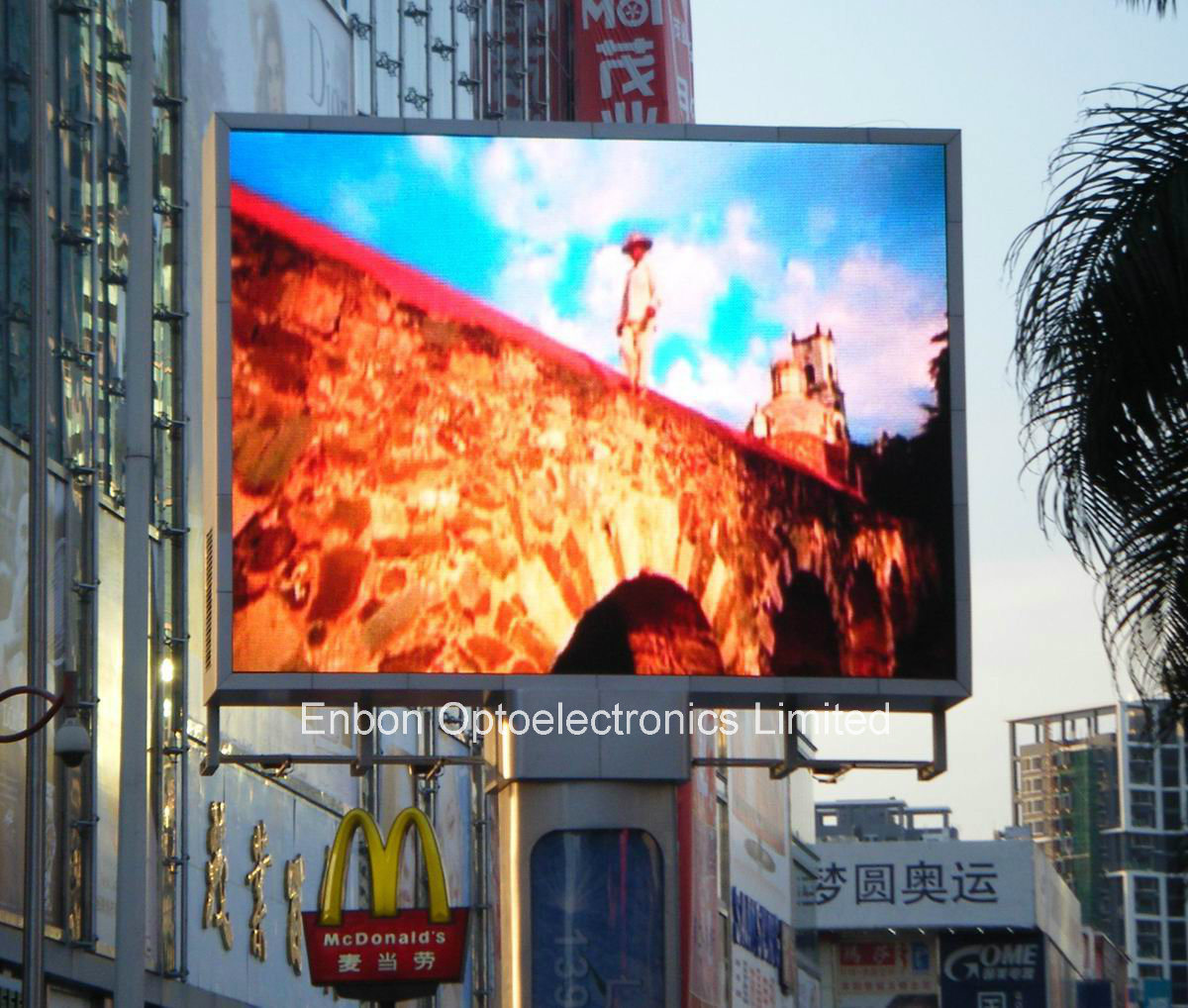 China P16 RGB Outdoor LED Billboard on Pillar Photos & Pictures ...