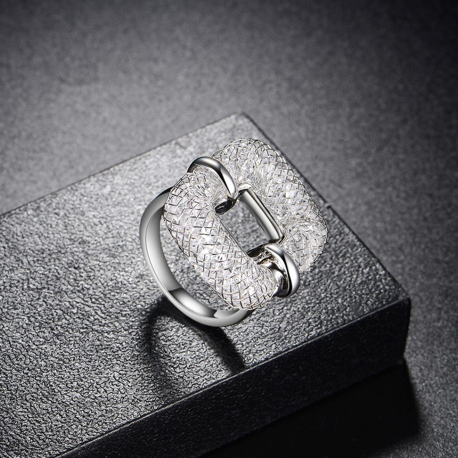 Fashion Mesh Crystal Creative Artificial Ring Jewelry
