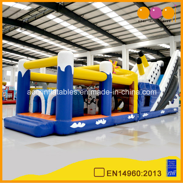 Inflatable Penguin Obstacle Couese for Kids (AQ1466)