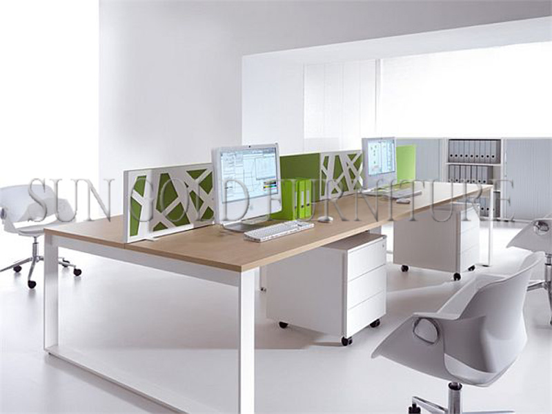 easy clean steel frame l shaped desk cheap aluminium workstations sz ws525 cheap office workstations