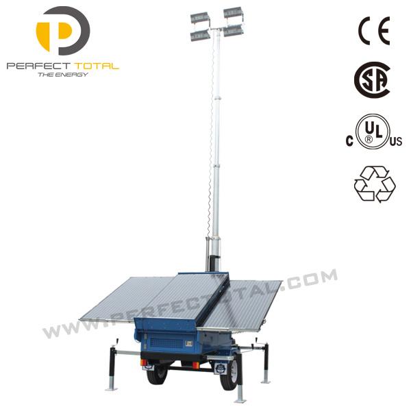 100W LED Mobile Solar Tower Light