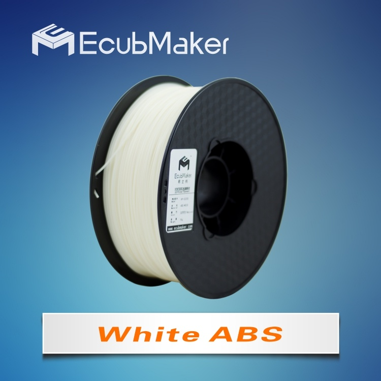 1.75mm ABS Filament for 3D Printer White Color