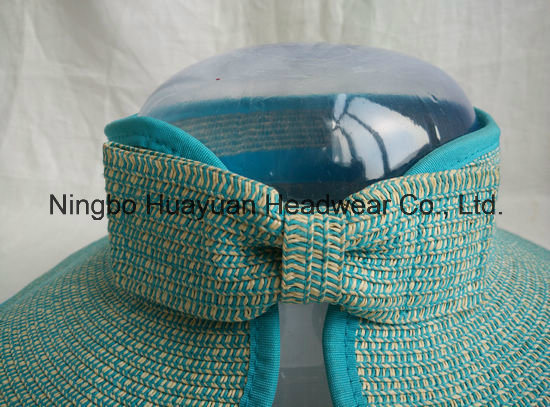 Mixed Color Paper Braid Sewn Braid Visors