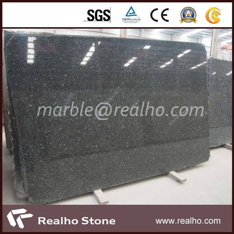Good Price Emerald Pearl Granite /Black Galaxy/Absolute Black Granite Slab for Kitchen Countertop, Island Top