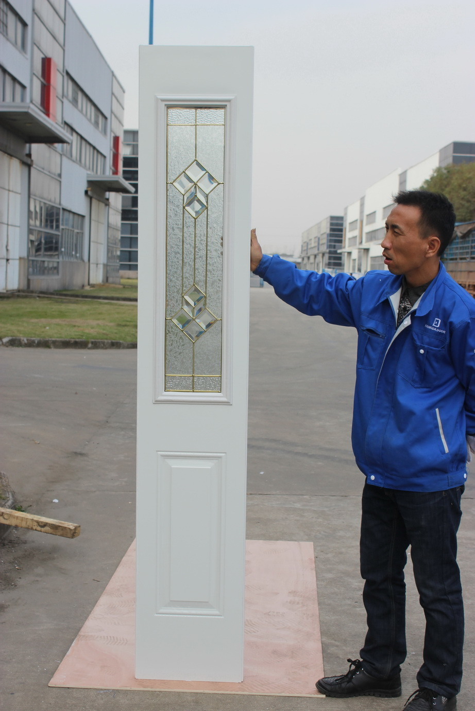 Fangda Classic Panel Design Steel Bathroom Door