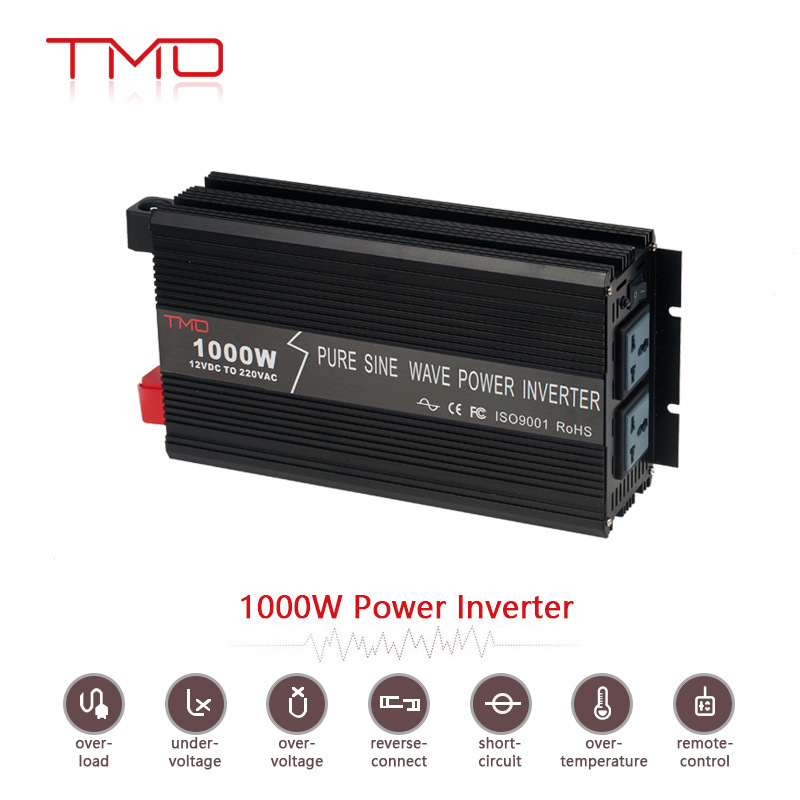 High Efficiency Green Power Single Phase off Grid Solar 1kw Inverter DC 12V/ 24V to AC 220V 1000W 1000 Watt 2000W Pure Sine Wave Inverter