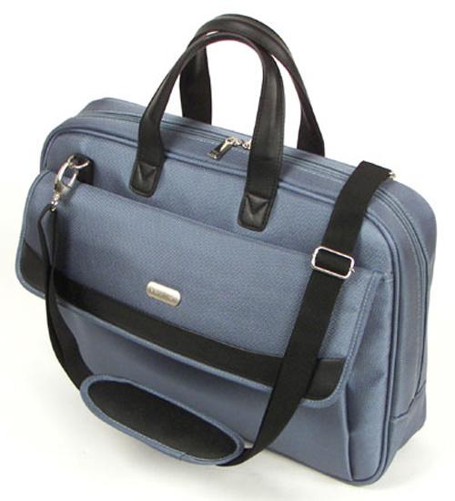Grey Computer Laptop Messenger Shoulder Bag for Students