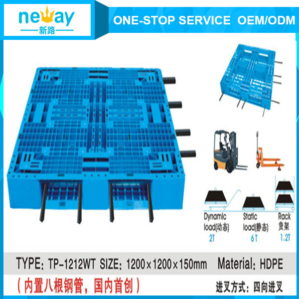 New Design Plastic Material and 4-Way Entry Type Euro Plastic Pallet