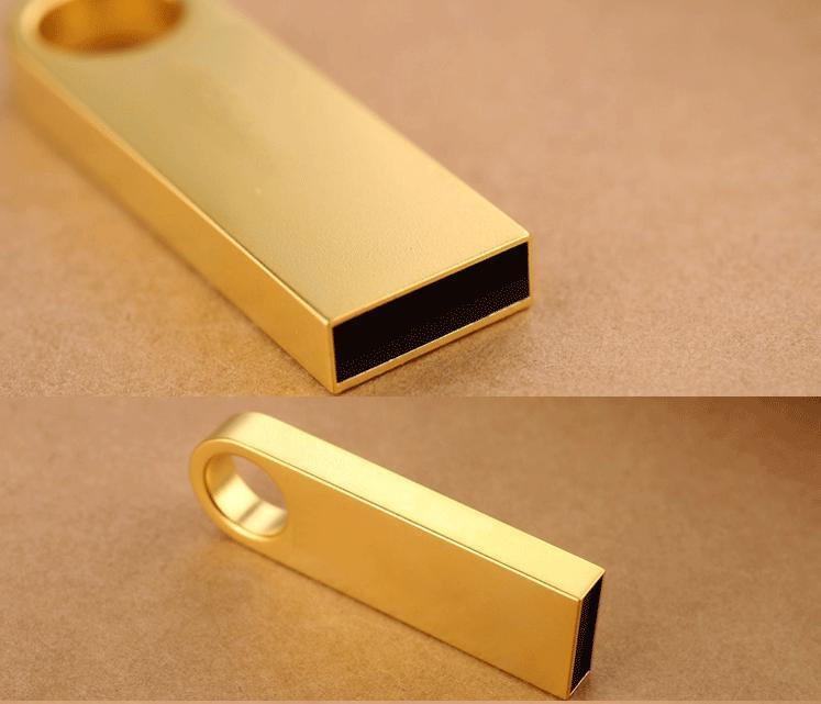 Gold Mini Metal Flash Drive with USB2.0&USB3.0 Interface