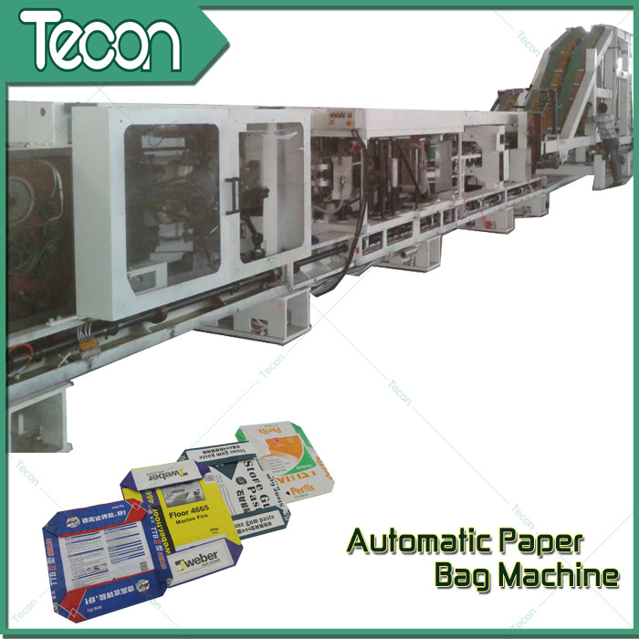 Automatic Pasted Valve Stepped End Paper Bag Machine for Cement