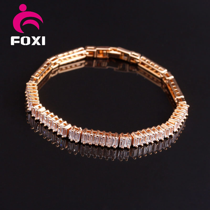 Hot Selling Rose Gold Gemstone Bracelets Jewelry