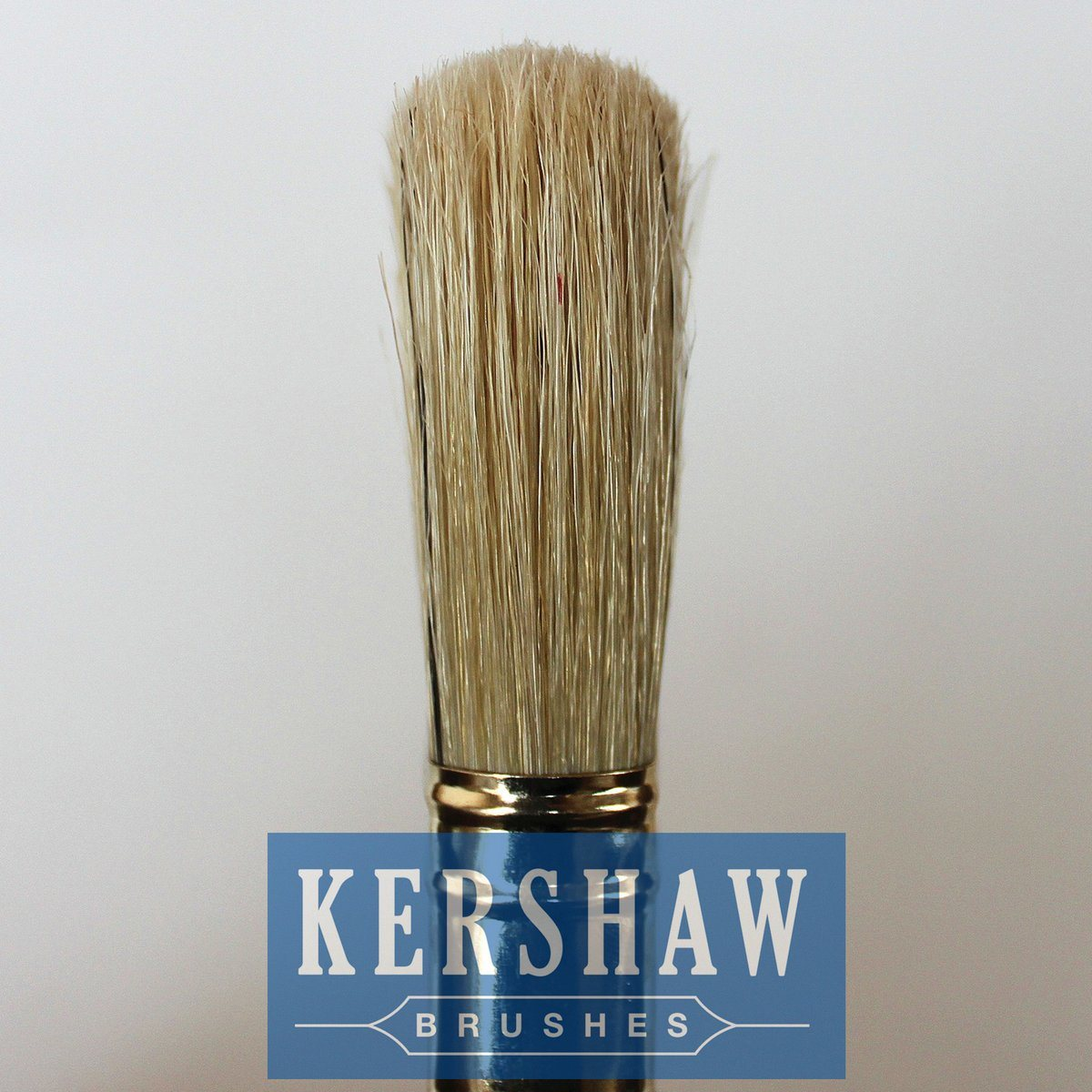 Paint Brush (paintbrush, white bristle flat brush with beech wood handle)
