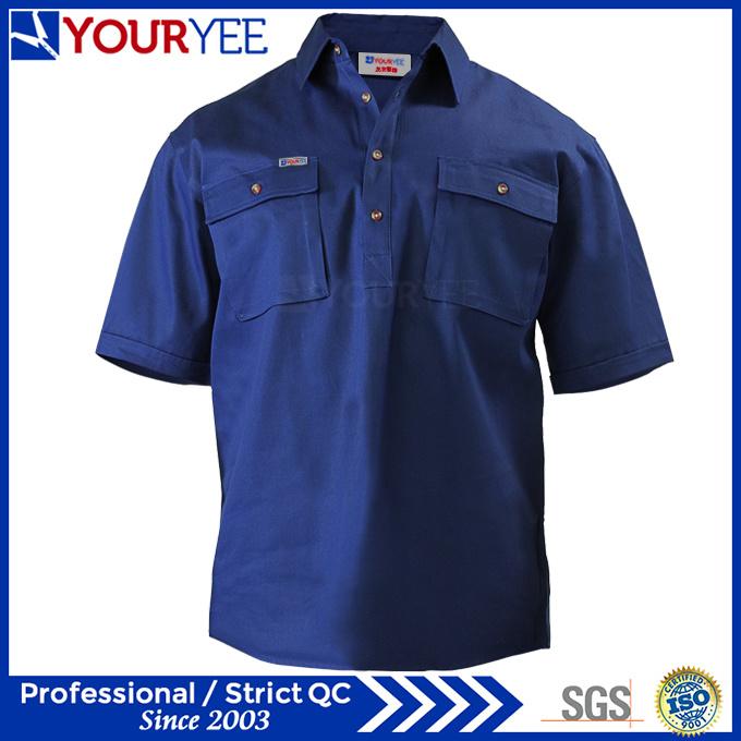 OEM ODM Short Sleeve Work Shirts Work Wear (YWS113)