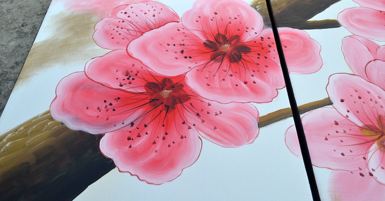 china handmade realistic flower oil painting on canvas china