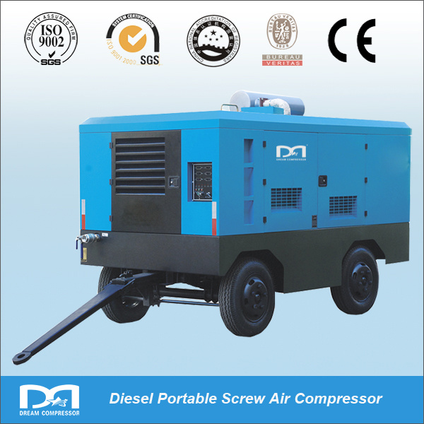 Portable Diesel Engine Driven Screw Air Compressor for Mining