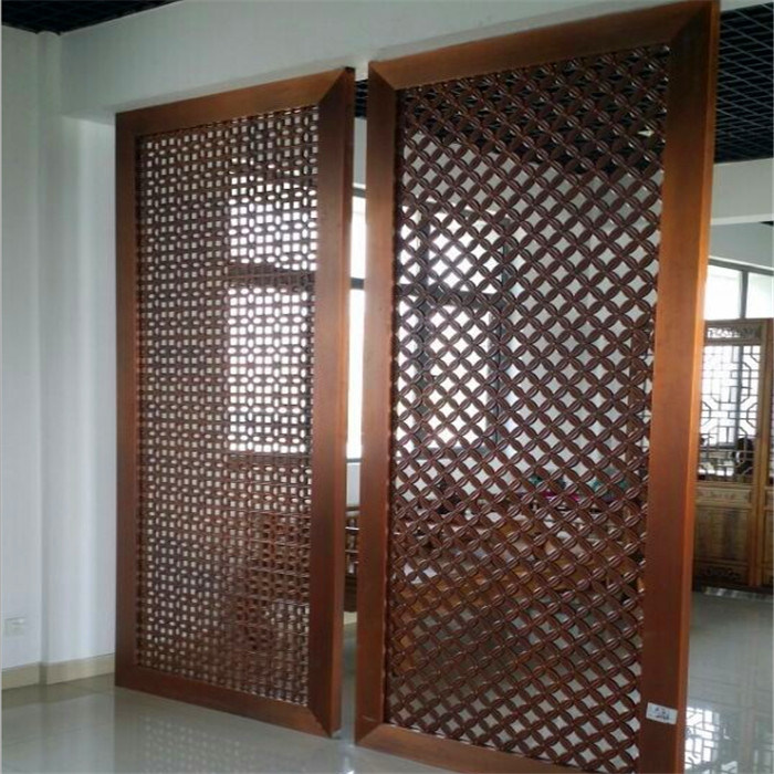 China hot sale office partition screen pvd color metal for Partition room divider for sale