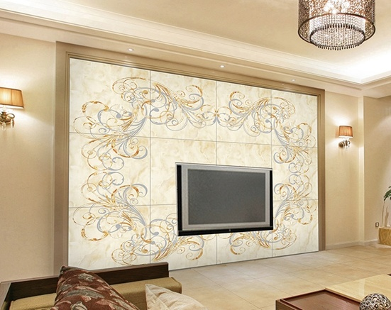 Ceramic wall tiles for living room 6 wall decal - Tiles design for living room wall ...