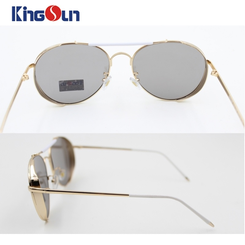 Flat Sunglasses with Silver Mirror Lens Double Bridge Ks1154