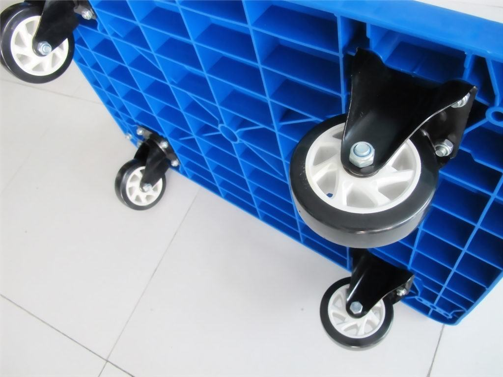 300kgs Plastic Platform Trolley High Quality Pallet Hand Truck with PVC Wheels