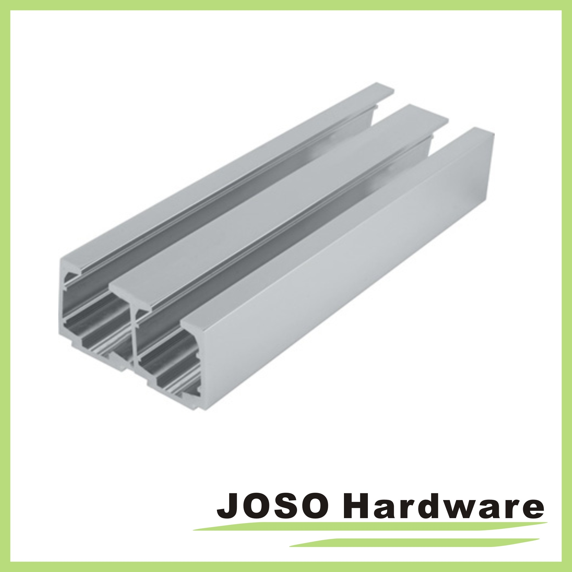 Bathroom Glass Sliding Door Base Metal Channels (AL108)