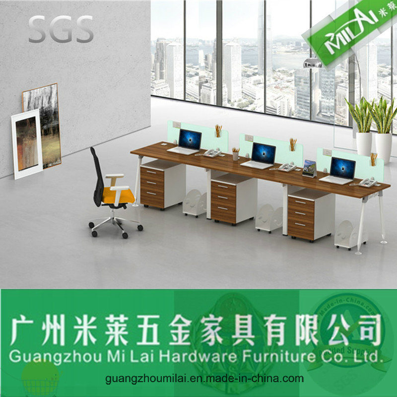 Excellent Quality Steel Frame Office Furniture Staff Table with Cabinets