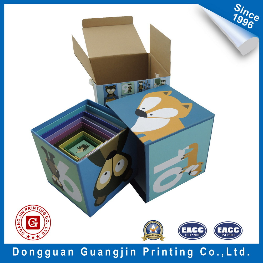 Four Color Printed Children Educational Paper Cardboard 3D Puzzle