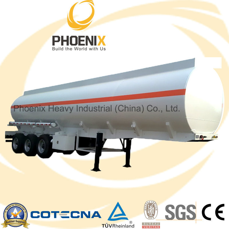 Hot Sale 36cbm Tri-Axle Fuel Petrol Tank Trailer (Q235B Steel)