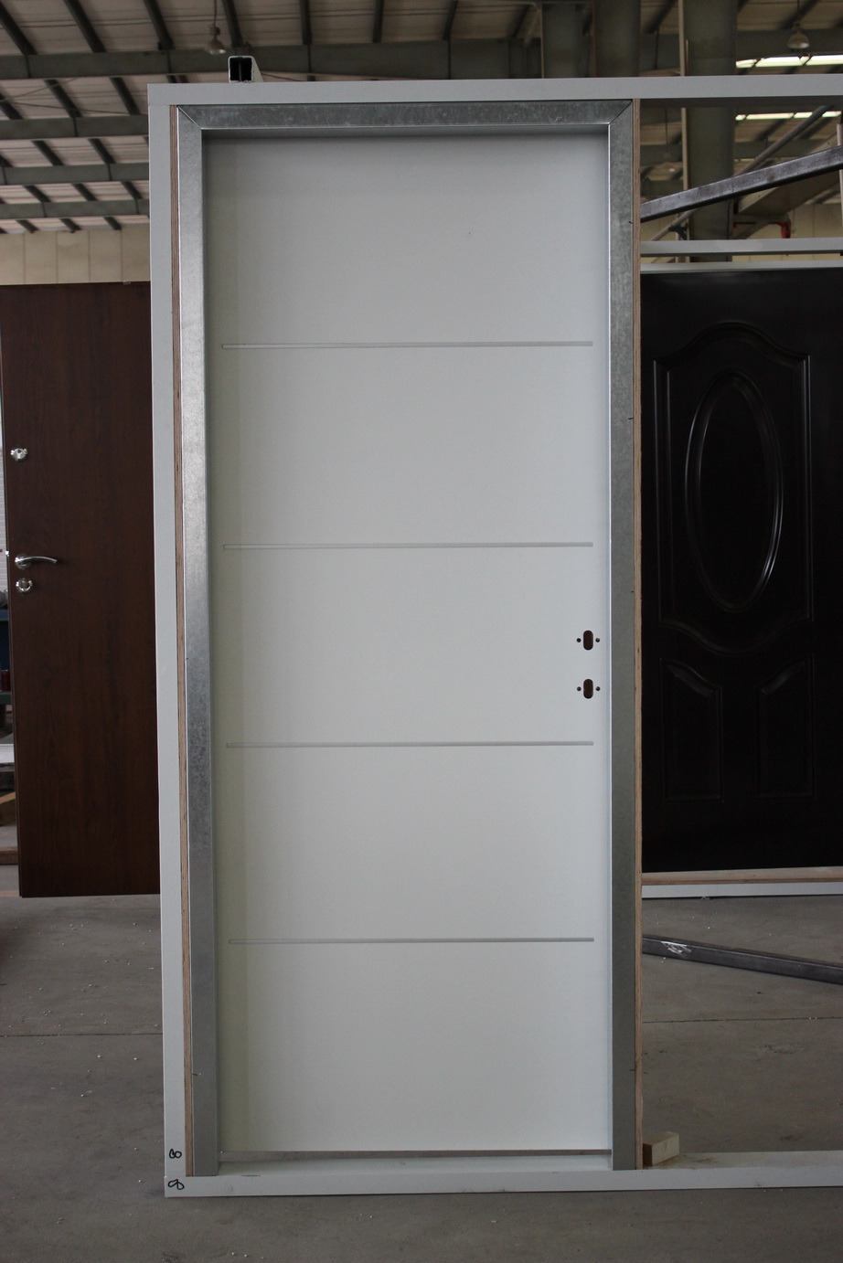 Israeli Interior Steel Door with Decorative Aluminum Strips
