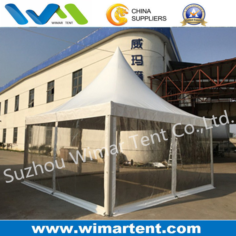 5X5m Canopy Tent with Clear Sidewall and Lining