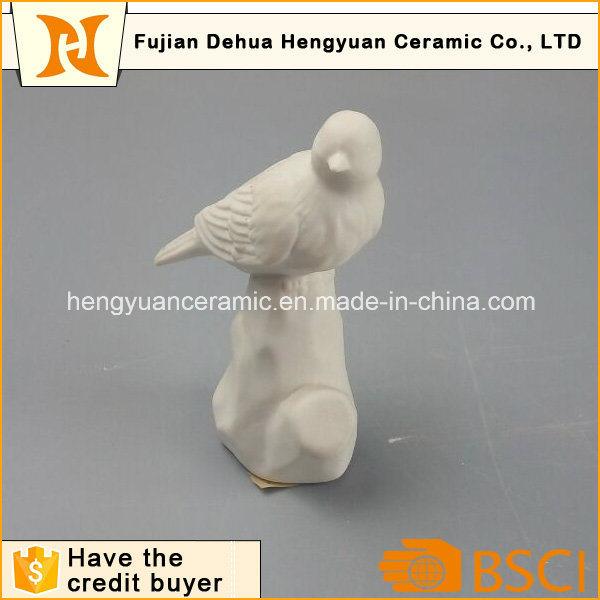 Garden Decoration White Ceramic Bird Craft