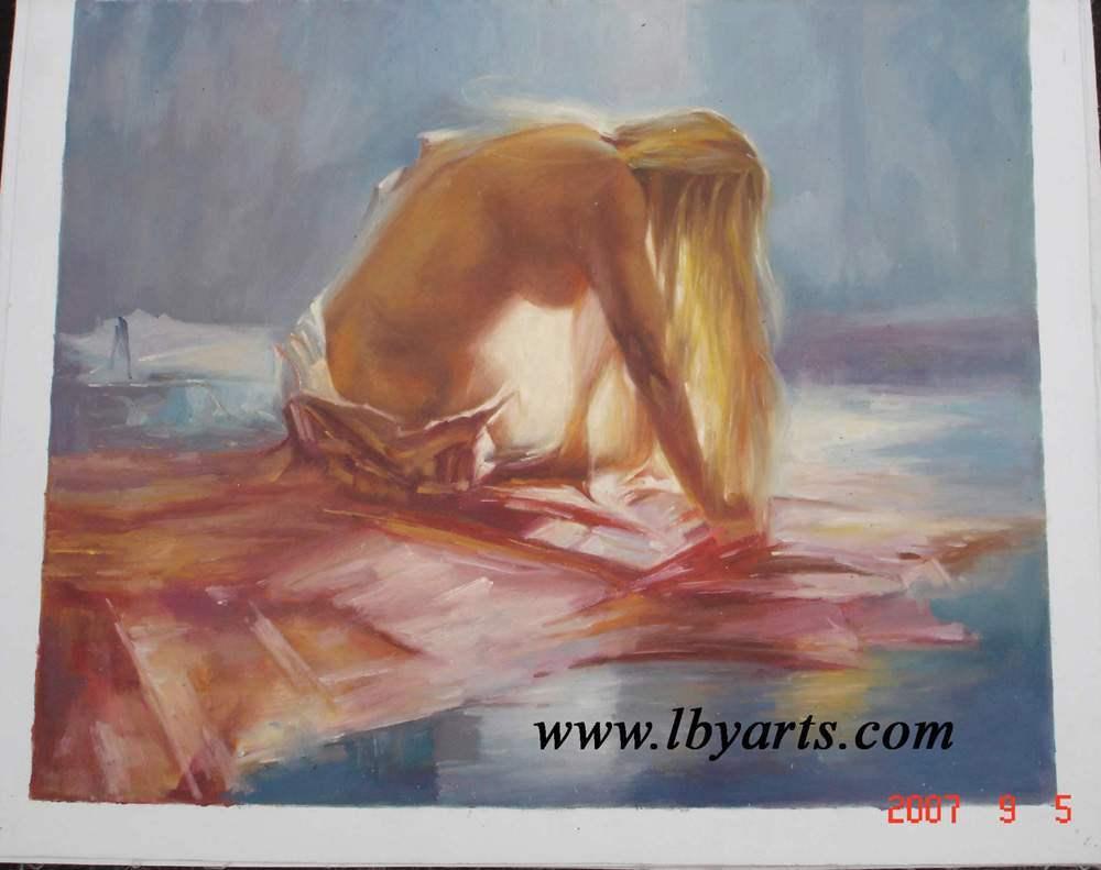 Handmade Oil Painting - Nude (YANG02045)