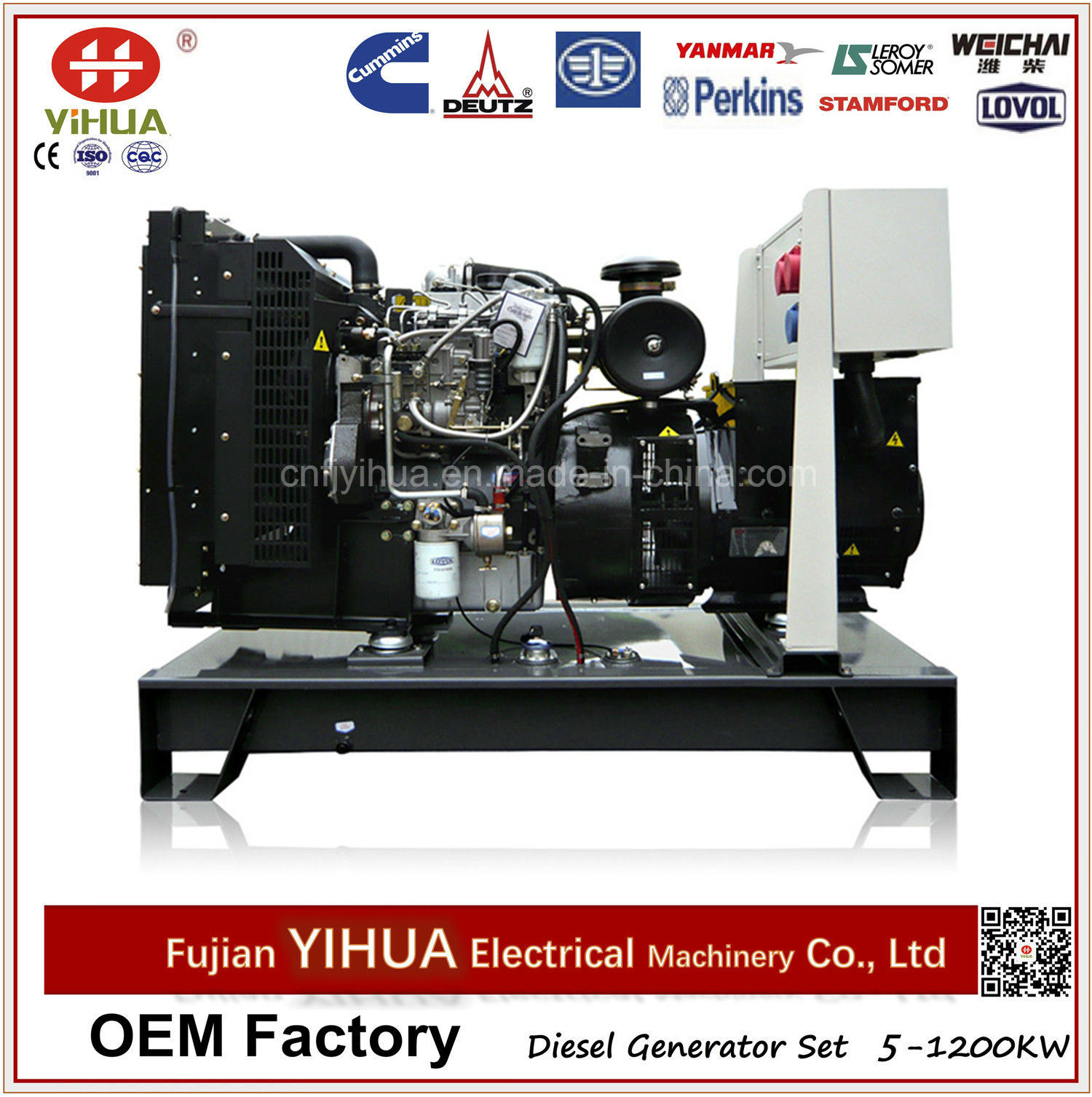 China 24kw 30kVA Output Open Frame Diesel Generator with Lovol
