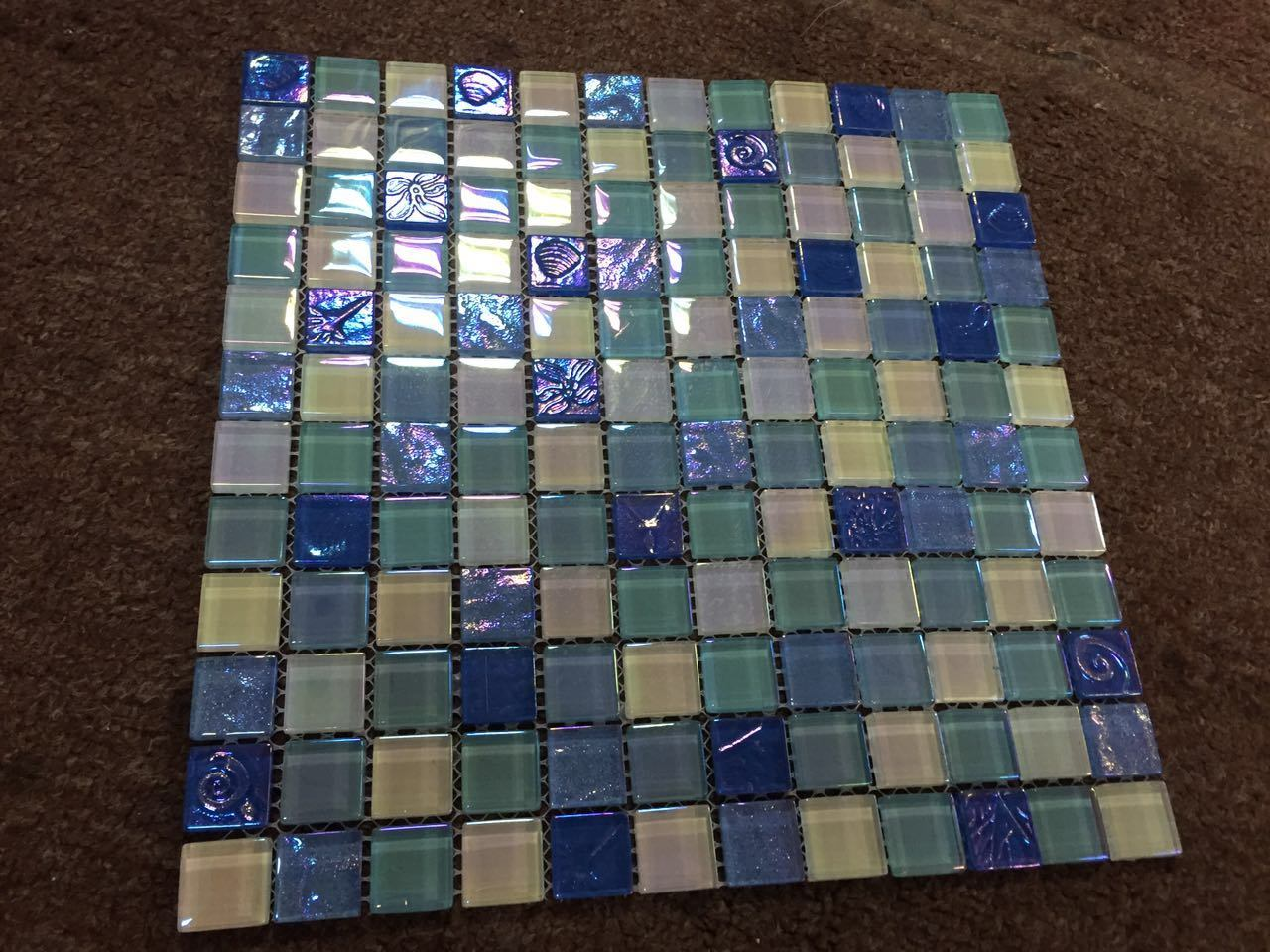 Chinese Supplier Green Tile Glass Mosaic, Fashion Swimming Pool Tile for Sale