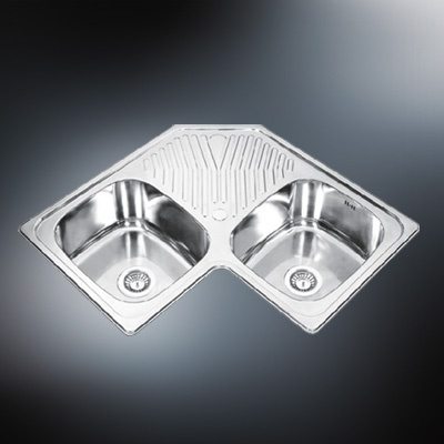 Double Corner Sink : ... Double Bowl Corner Sink (PS-320) - China Corner Kitchen Sink, Double