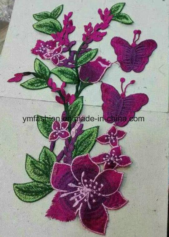 Hot Sell Garment Accessories Embroirdery Flower