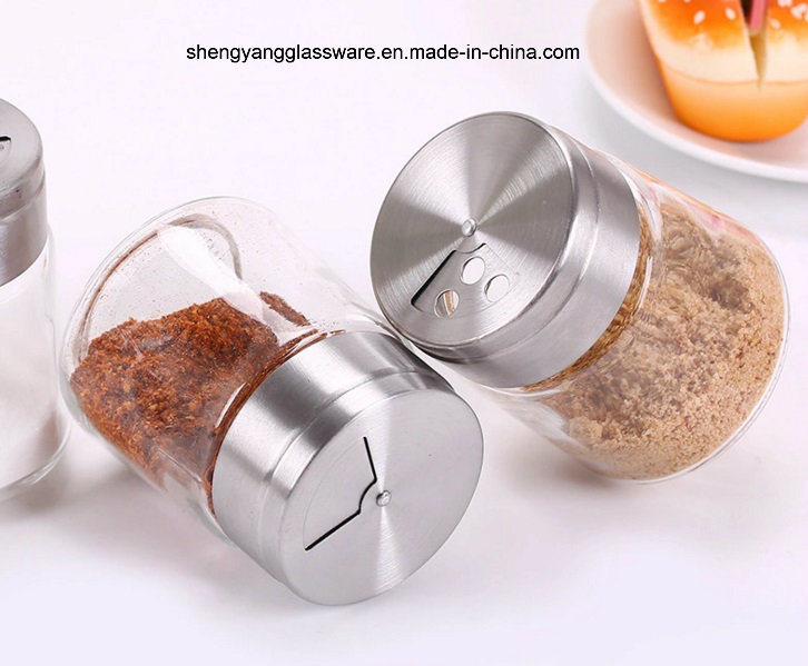 Fashion Pepper/Salt Bottle with Stainless Steel Lid/Spice Jar