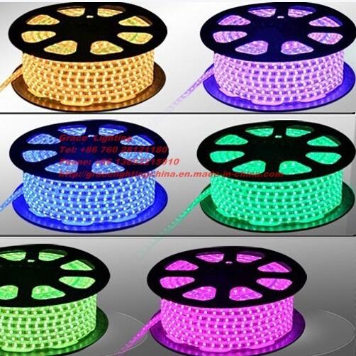 Beautiful RGB Running 60 LEDs Light 3528 LED Strip (G-SMD3528-60-220V-RGB)