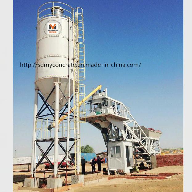 50m3/H Foundation Free Concrete Batching Plant / Mixing Plant for Sale