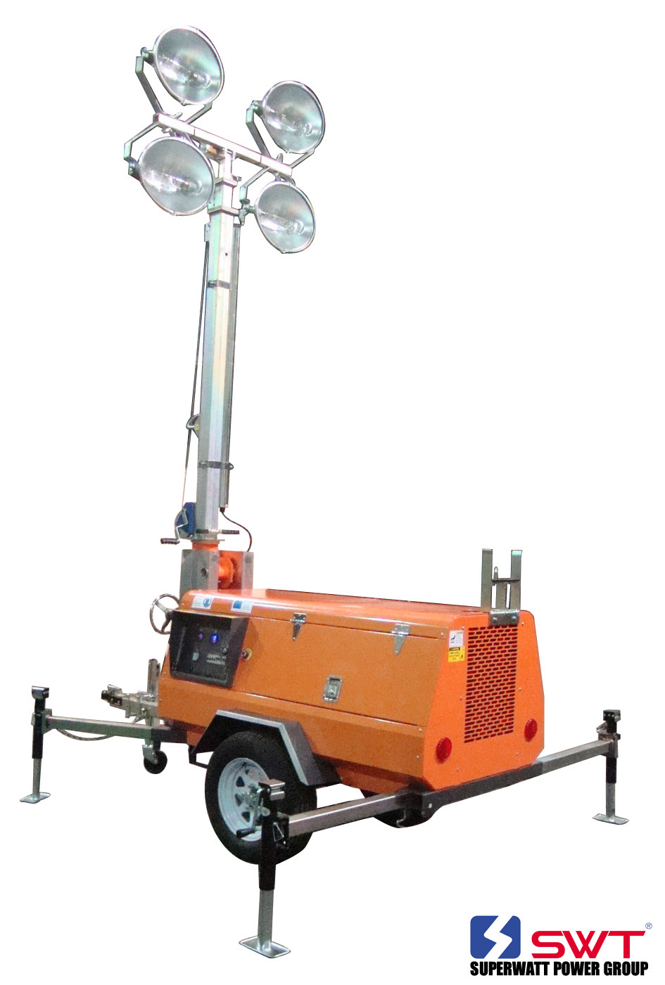 Illuminated Light Tower Powered by Kutoba/Perkins/Kholer with CE Certificate