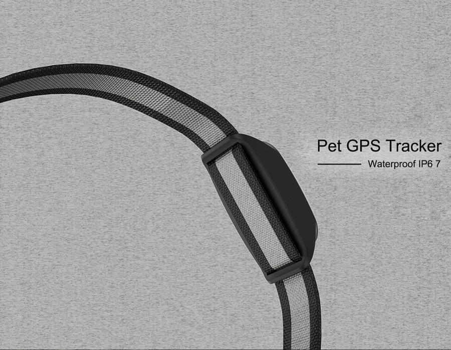 Waterproof IP67 Pet GPS Tracker, Cats Collars Dog GPS Tracker/ Pet Tracker Long Battery Life
