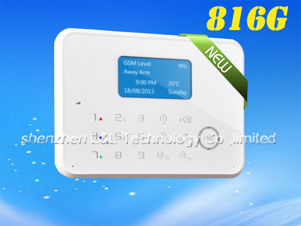 Russia Voice LCD Touch Screen GSM Alarm System Support APP, Android System (L&L-816G0)