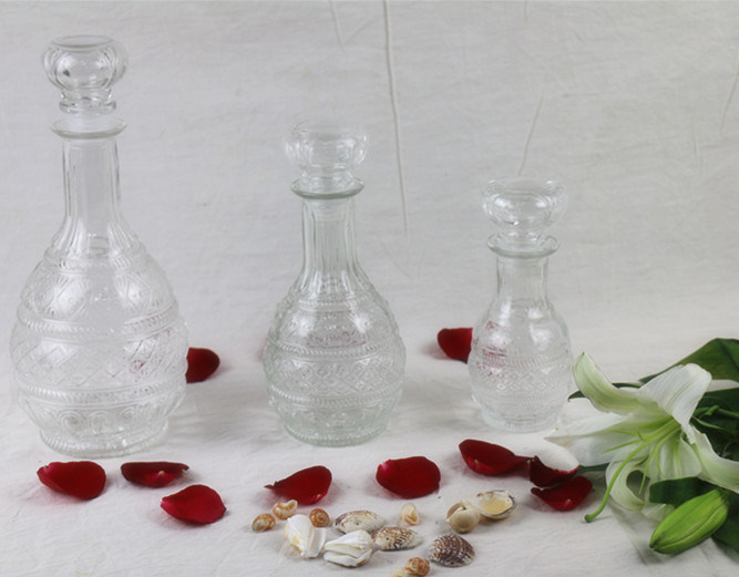 Whisky/Vodka/Red Wine Glass Bottle Decanter with Glass Stopper Cap